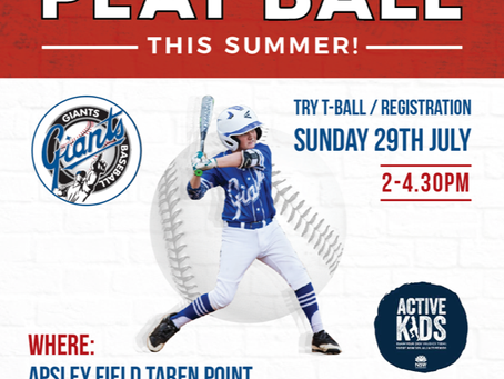 Giants - Play ball this summer