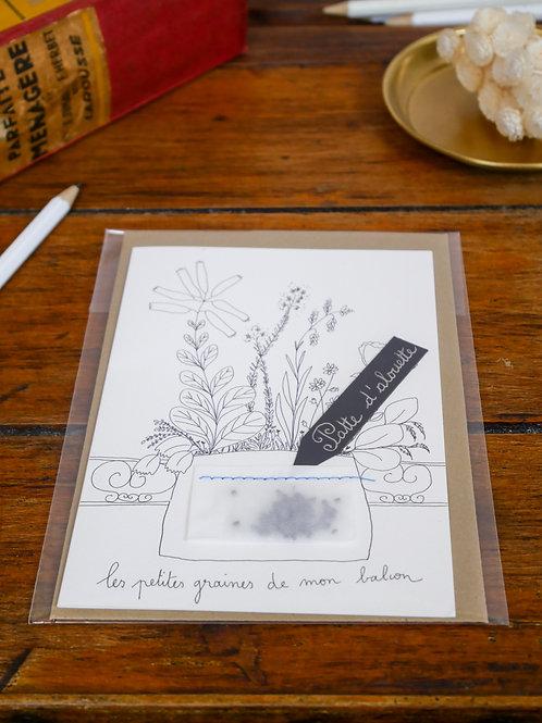 """Carte à planter """"Patte d'alouette"""""""