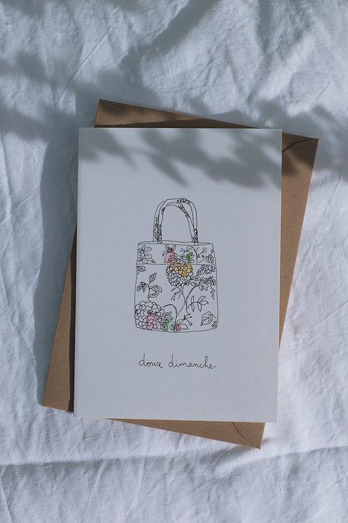 """Carte """"Doux Dimanche"""""""