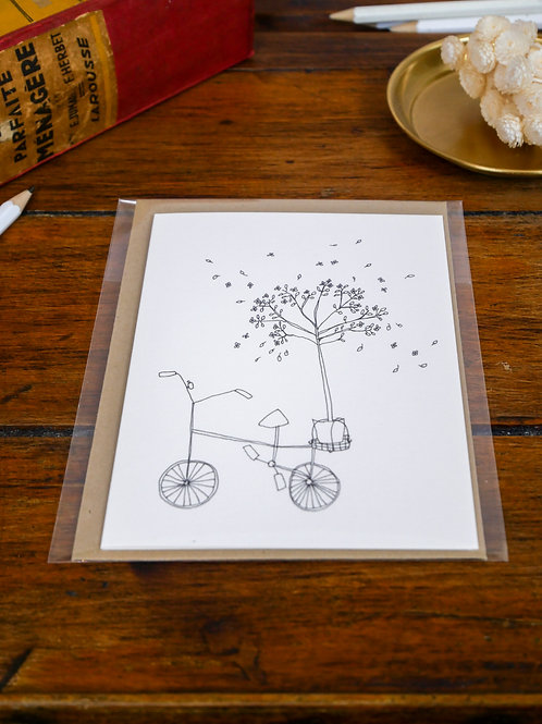 """Carte """"Bicyclette"""""""