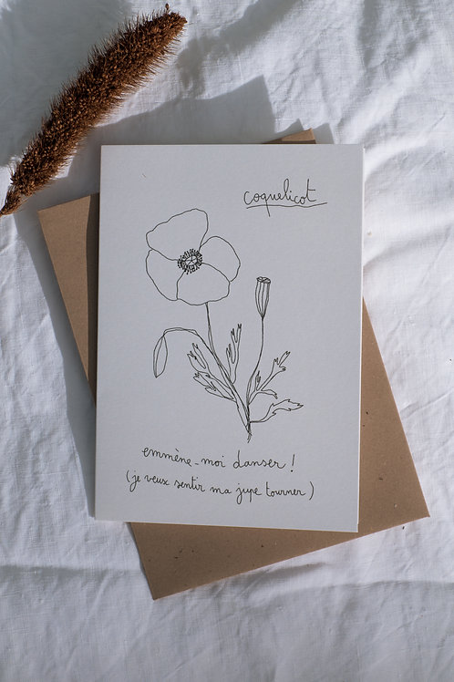 "Carte ""Coquelicot"""