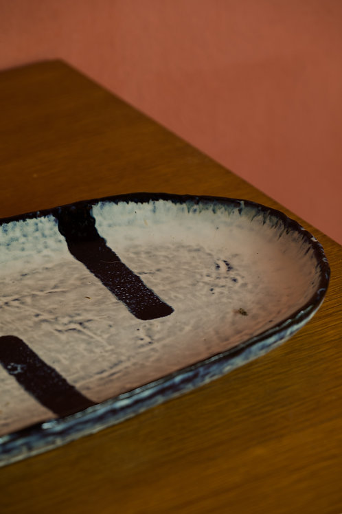 Plat en grès ovale