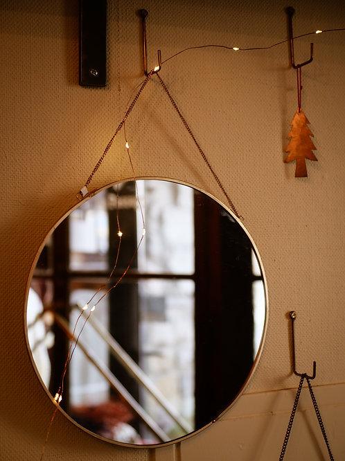 Miroir suspendu rond