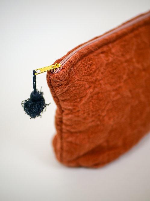 Pochette zippée en coton