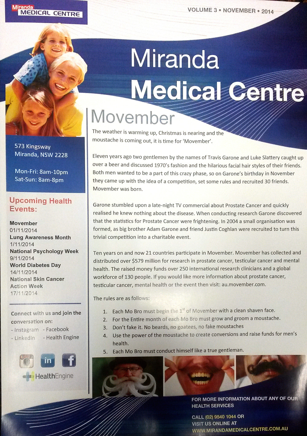 MMC Newsletter - November 2014