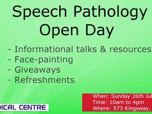 Speech Pathology Open Day