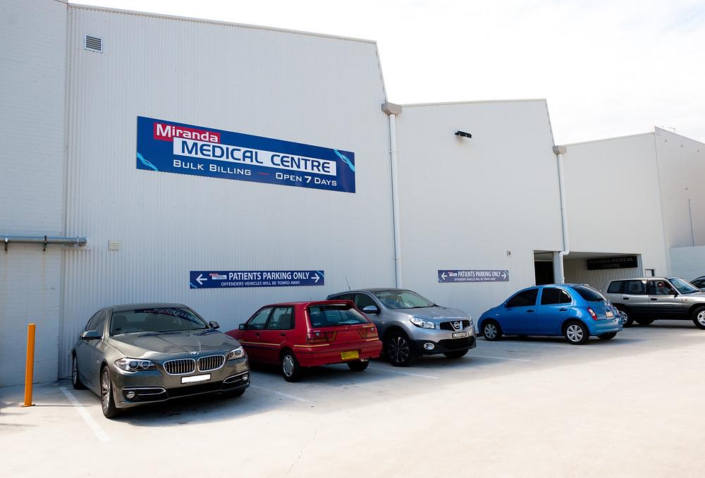 Miranda Medical Centre - Parking