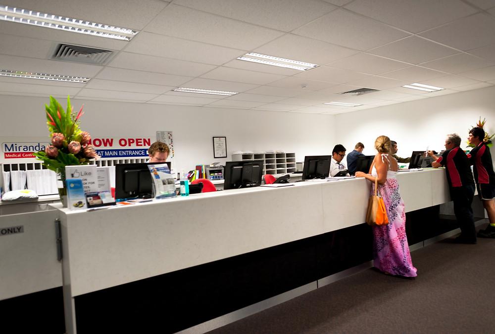 Miranda Medical Centre - Reception Desk