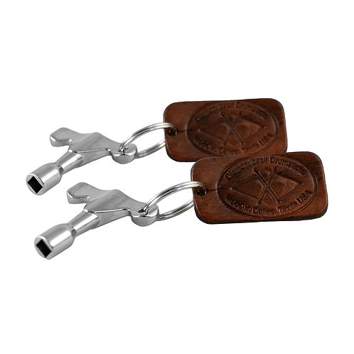 2 Drum Keys with Handmade Leather Key chain