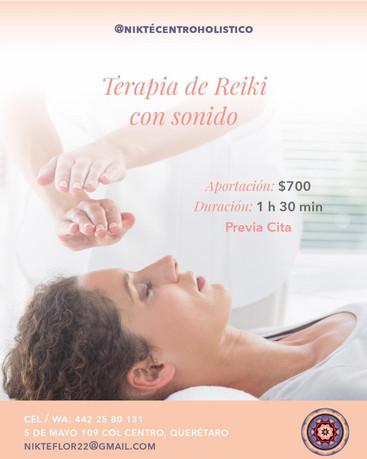 Terapia de Reiki con sonido