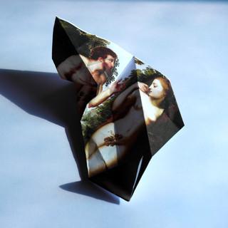 Adam and Eve. Origami technique