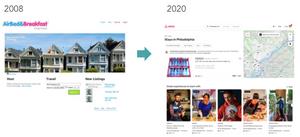Airbnb 2008 vs 2020