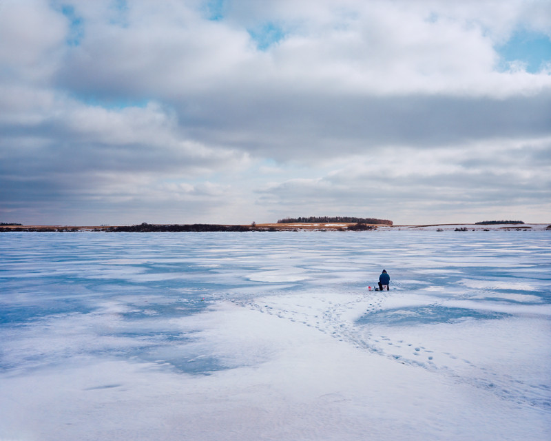 Ice Fishing near Eckelson, ND