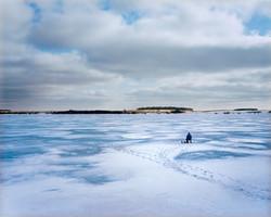 Ice Fishing on Eckelson Lake
