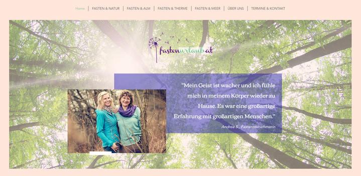 """""""Fastenurlaub:"""" Relaunch Website"""