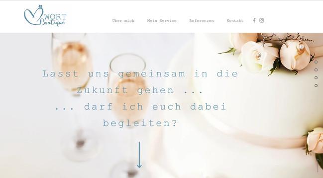 """""""WortBoutique"""": Website"""