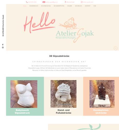 """""""Atelier Gojak"""": Relaunch Website"""