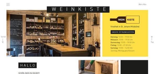 """Weinkiste"": Relaunch Website"