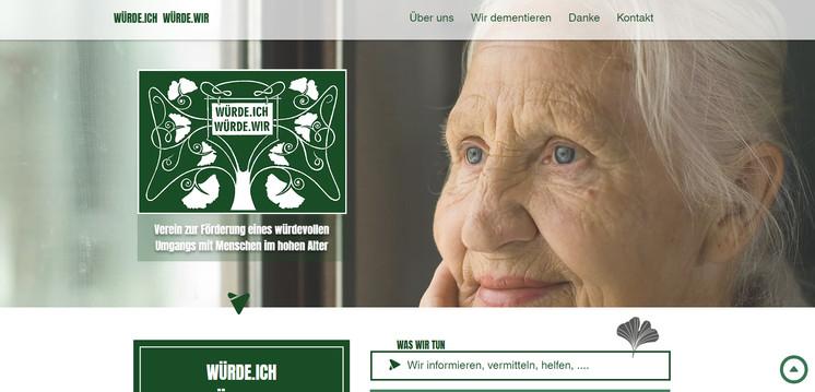 """""""Würde.ich Würde.wir"""": Website"""
