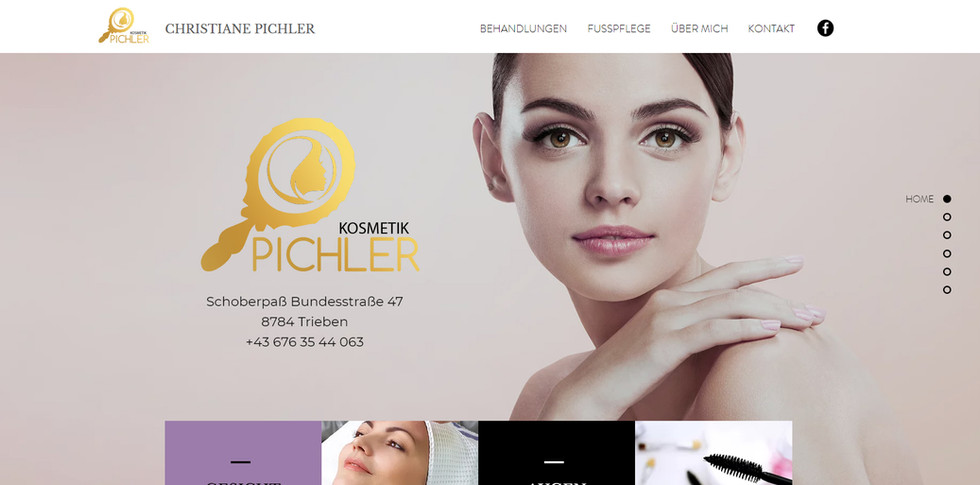 """Kosmetik Pichler"": Website & Branding"