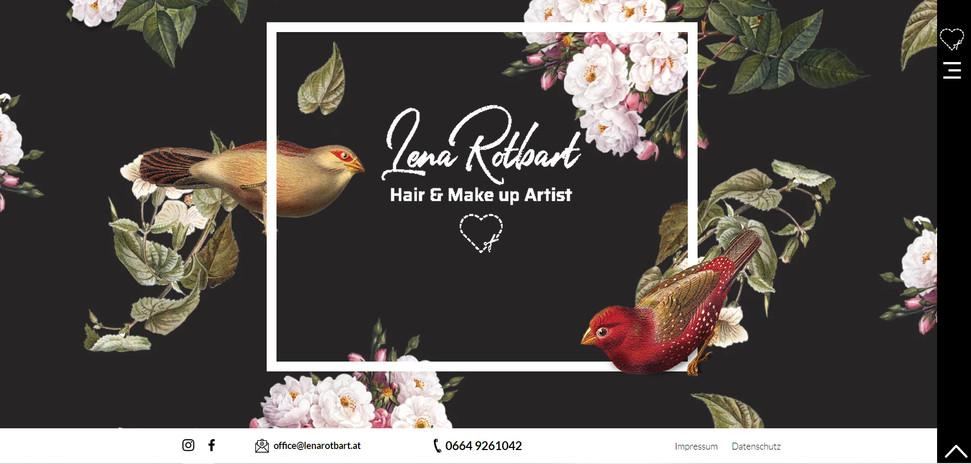 """Lena Rotbart - HAIR & MAKE UP ARTIST"": Website"