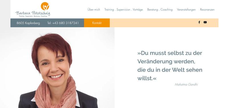 """Barbara Pototschnig"": Website"