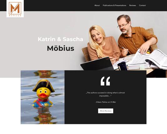 """""""Katrin und Sascha Möbius"""": Logo & Website"""