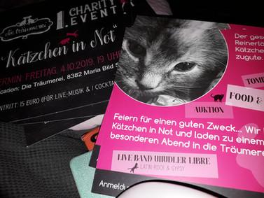 """""""Die Träumerei"""" 1. Charity-Event: Flyer"""