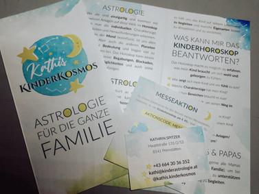 """""""Kathis KinderKosmos"""": Logo & Flyer & Messegutschein"""