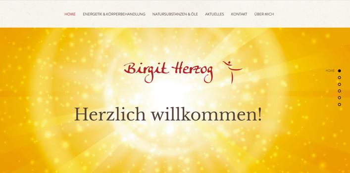 """""""Birgit Herzog"""": Logo & Flyer & Website"""