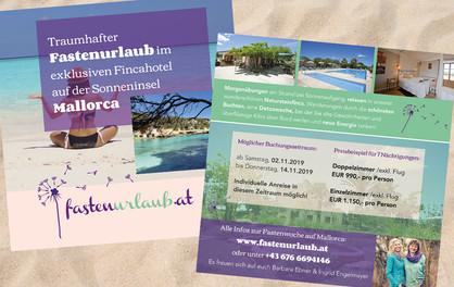 """Fastenurlaub"": Flyer"