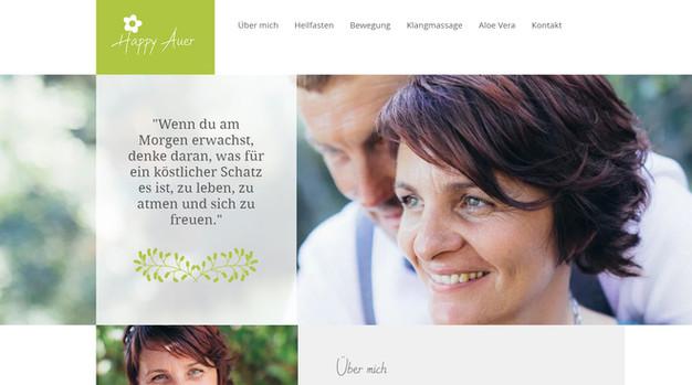 """""""Happy Auer"""": Website & Branding"""