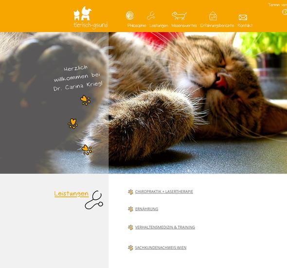 """""""Tierisch gsund"""": Relaunch Website"""