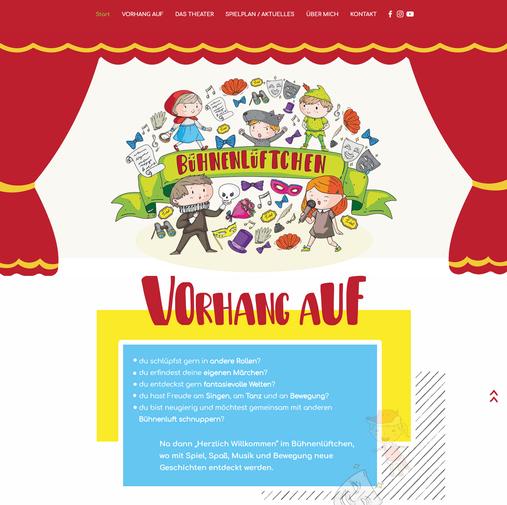 """""""Bühnenlüftchen"""": Logo & Website"""