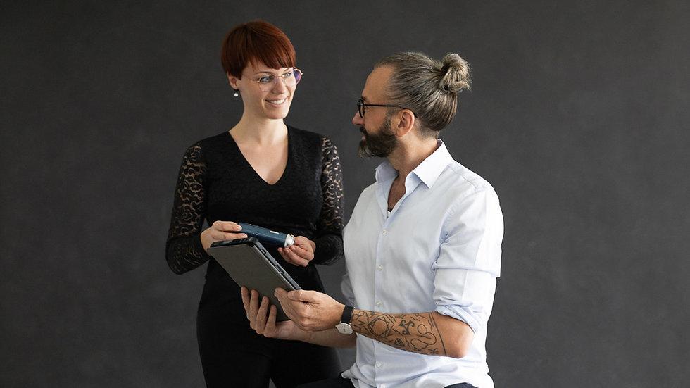 Friseur Mausser: Kopfhautdiagnose