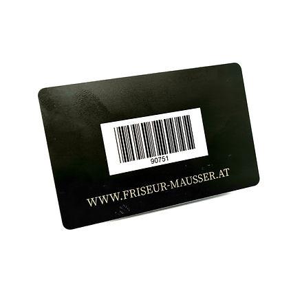 Friseur Mausser: die MausserCard Rückseite