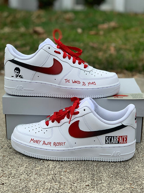 Nike Air Force 1 Custom 'Scarface'