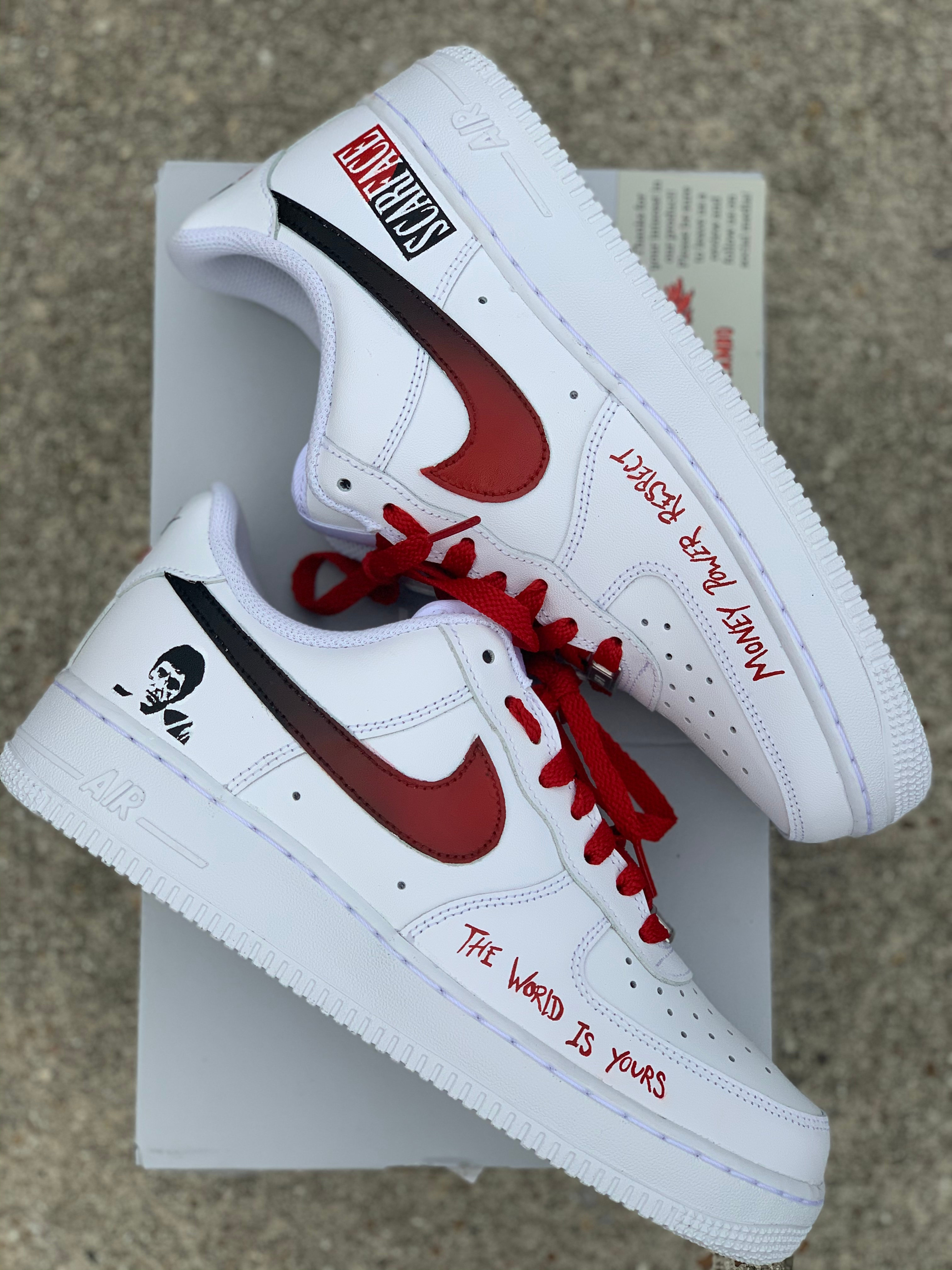 Nike Air Force 1 Custom 'Scarface