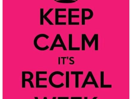 Recital Week Schedule