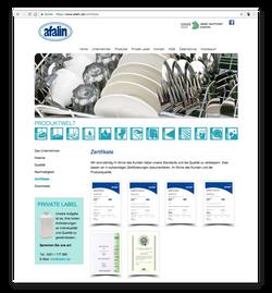 afalin - Zertifikate