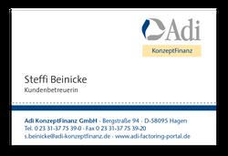 Visitenkarte Adi-KonzeptFinanz
