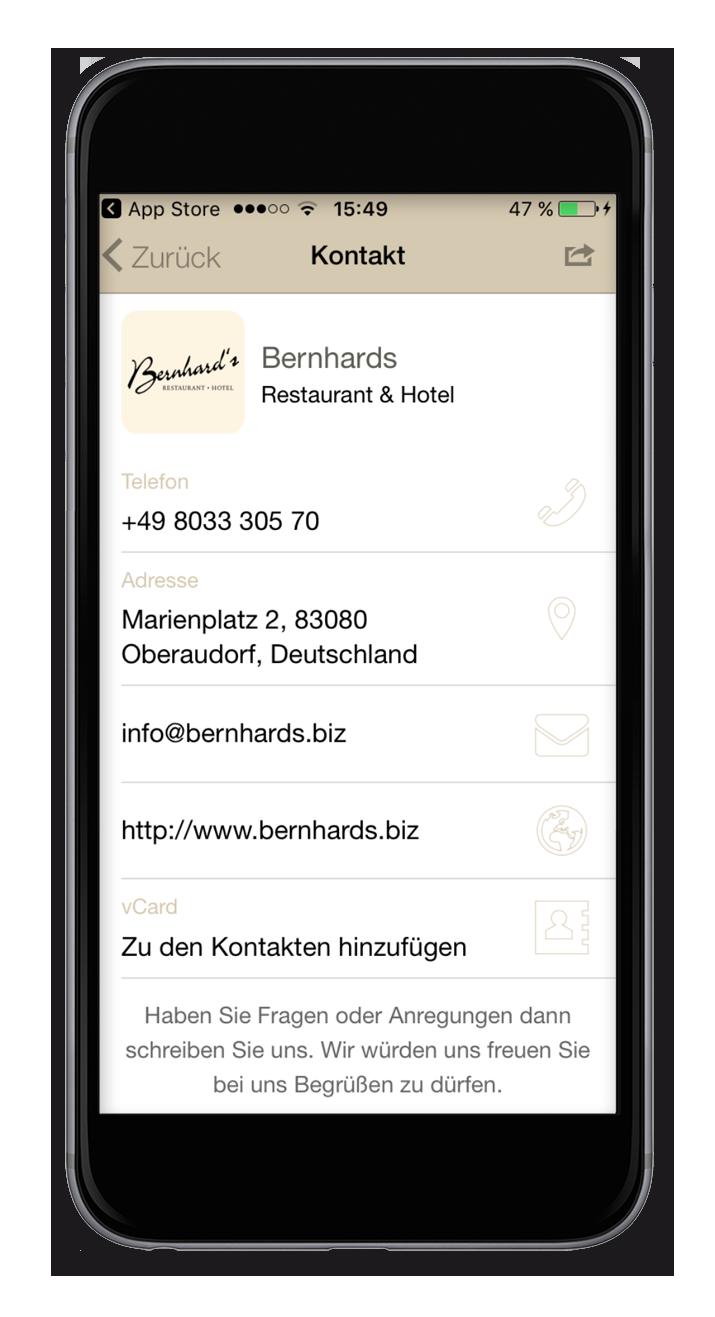Bernhards - Kontakt