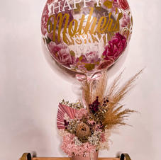 Dried Flower Arrangment with Orb $165