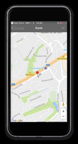 Praxis-App - Karte