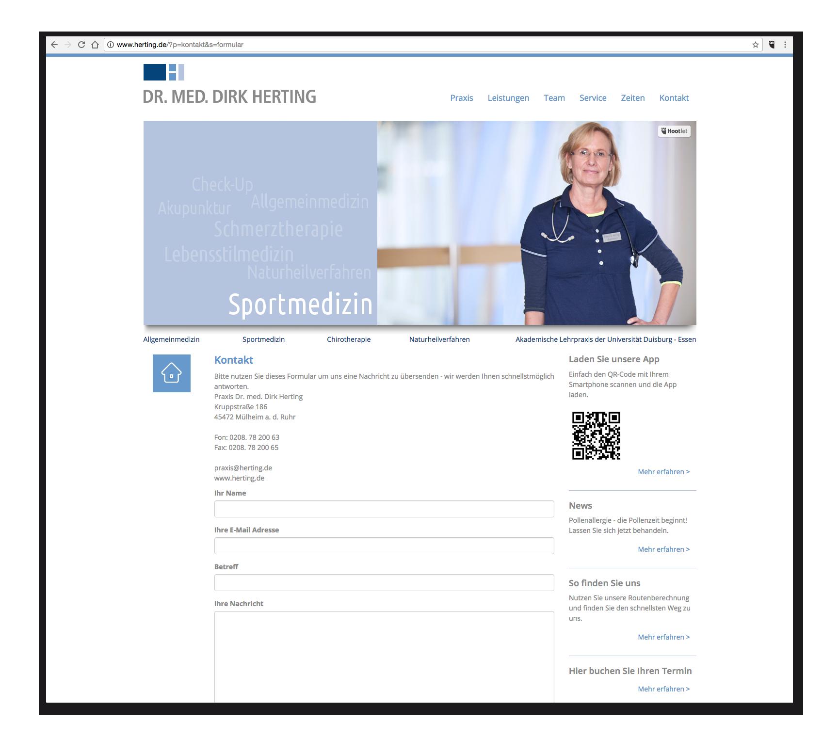 Praxis-Webseite - Kontakt