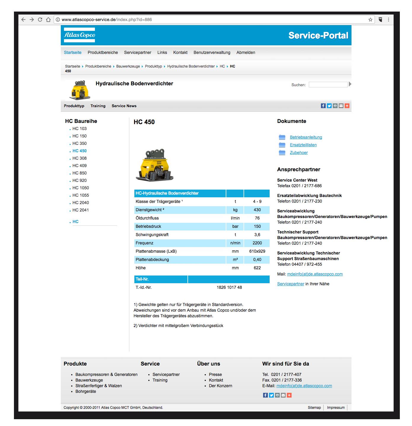AtlasCopco-Service - Produktdetails