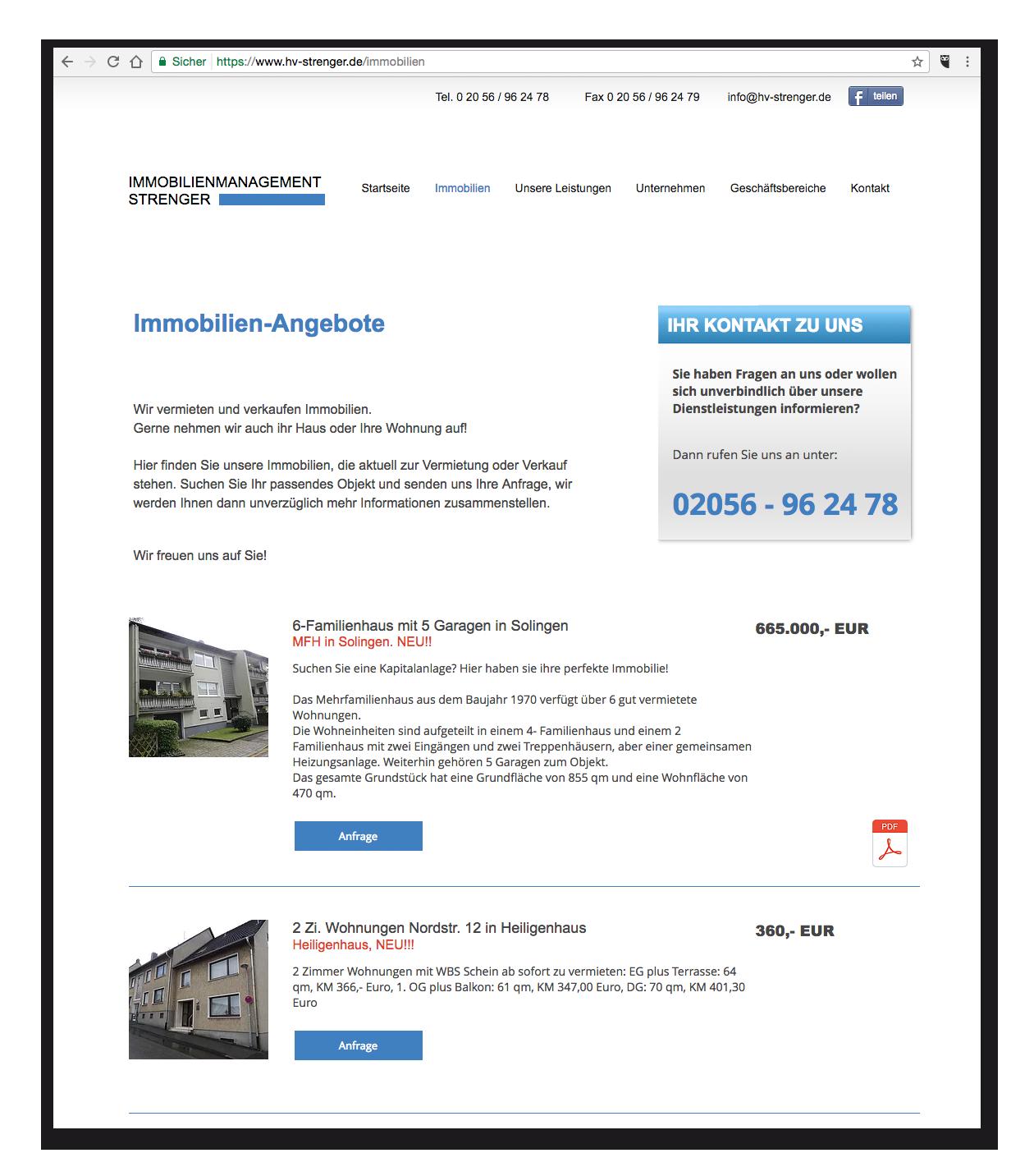 HV-Strenger - Immobilien