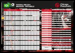 WM Poster/Spielplan