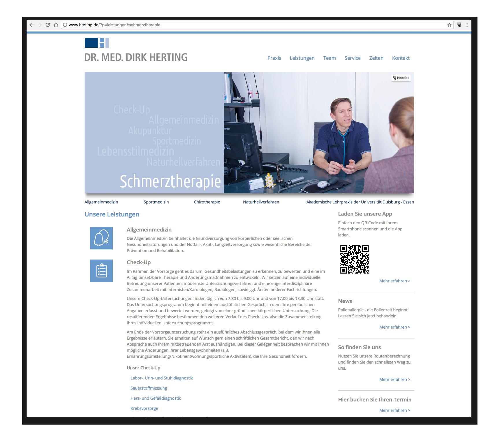 Praxis-Webseite - Leistungen