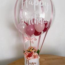 Deco Bubble Flower Hamper $100